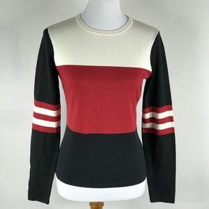 Michael Kors M Sweater Silk Blend Color Block L-S